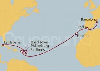 Crucero De la Habana a Barcelona