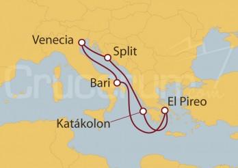 Crucero Italia, Grecia y Croacia