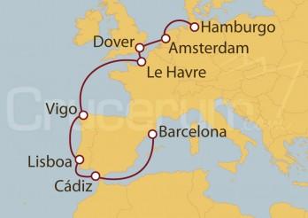 Crucero De Barcelona a Hamburgo