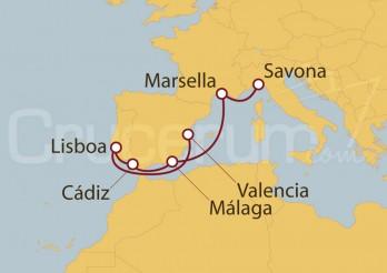Crucero Desde Savona hasta Valencia