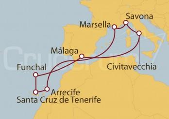 Crucero España, Italia, Francia, Canarias y Madeira