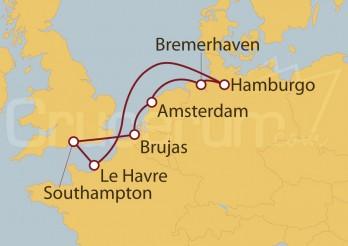 Crucero Holanda, Bélgica, Gran Bretaña, Francia, Alemania