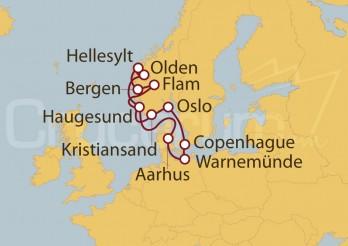 Crucero Dinamarca, Alemania, Noruega