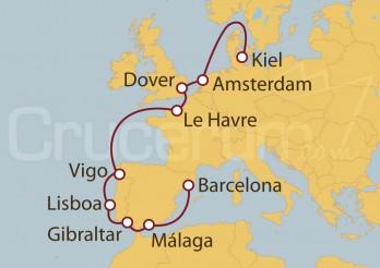Crucero Alemania, Holanda, Gran Bretaña, Francia, España y Portugal