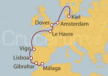 Crucero De Kiel (Alemania) a Málaga