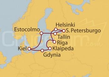 Crucero Alemania, Suecia, Estonia, Rusia, Finlandia, Letonia, Lituania y Polonia