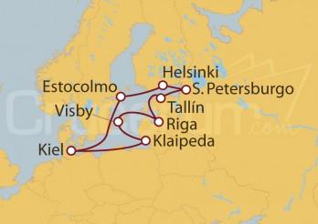 Crucero Alemania, Lituania, Suecia, Letonia, Estonia, Rusia, Finlandia