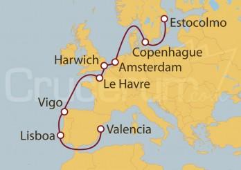 Crucero De Valencia a Estocolmo