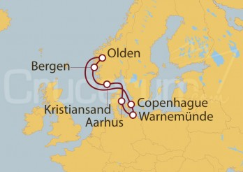 Crucero Alemania, Dinamarca y Noruega