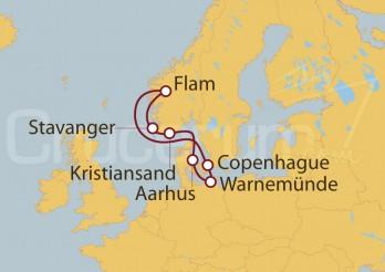 Crucero Alemania, Dinamarca, Noruega