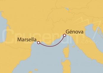 Crucero Francia, Italia