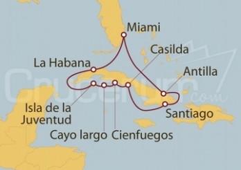 Crucero Miami, Cuba