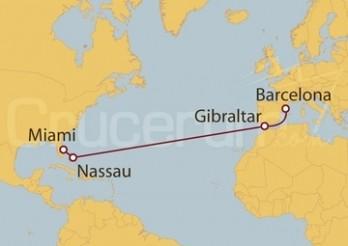 Crucero Inaugural entre Barcelona y Miami