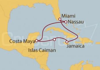 Crucero Estados Unidos, Jamaica, Gran Caimán, México, Bahamas