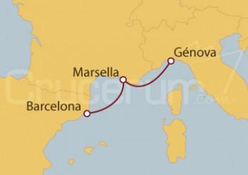 Crucero Minicrucero 5 días: Barcelona, Marsella y Génova