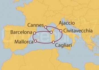 Crucero Cannes (Francia), España e Italia