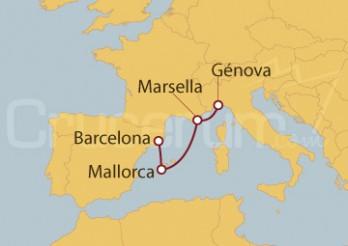 Crucero Minicrucero 4 días: Génova, Marsella, Palma de Mallorca y Barcelona