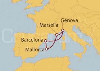 Crucero Minicrucero 5 días: Génova (Italia), Marsella y España