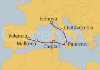 Crucero Italia y España