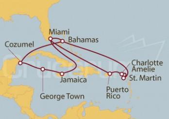 Crucero Miami (EE UU), Puerto Rico, Bahamas e Islas Caimán