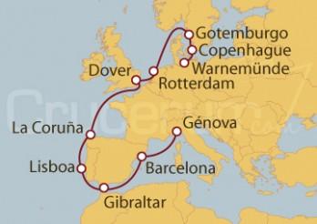 Crucero De Copenhague a Génova