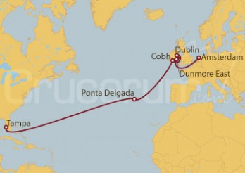 Crucero De Tampa (EEUU) a Amsterdam (Holanda)