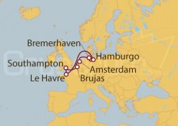 Crucero Alemania, Holanda, Bélgica, Gran Bretaña, Francia