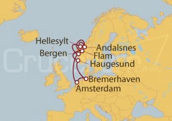 Crucero Alemania, Holanda, Noruega