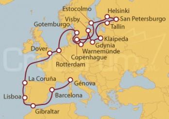 Crucero De Copenhague (Dinamarca) a Génova (Italia)