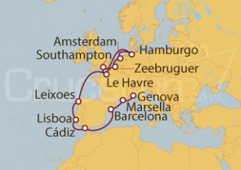 Crucero Mediterráneo, Atlántico y Mar del norte desde Hamburgo