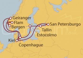 Crucero Nubes y montañas: Hellesylt y Geiranger