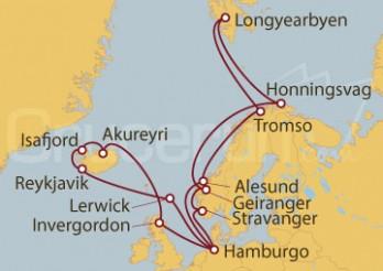 Crucero Hamburgo (Alemania), Reino Unido, Islandia, Noruega, Islas Svalbard y Jan Mayen