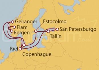 Crucero Alemania, Dinamarca, Noruega, Suecia, Estonia, Rusia