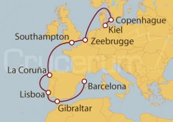 Crucero De Kiel (Alemania) a Barcelona
