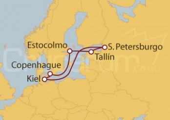 Crucero Alemania (Kiel), Dinamarca, Suecia, Estonia, Rusia