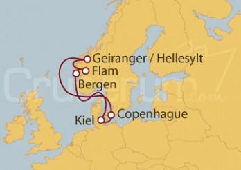 Crucero Kiel (Alemania), Dinamarca y Noruega