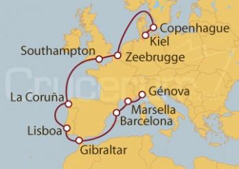 Crucero kiel (Alemania), Southampton (UK), Génova (Italia)