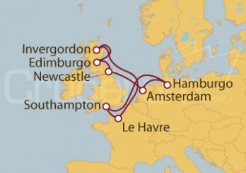 Crucero Le Havre, Escocia y Holanda desde Southampton