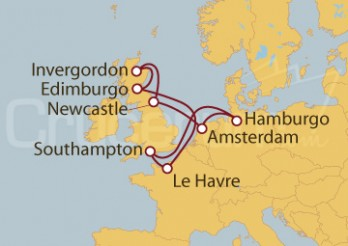 Crucero Le Havre, Escocia, Holanda Y Hamburgo desde Southampton