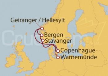 Crucero Noruega desde Warnemünde