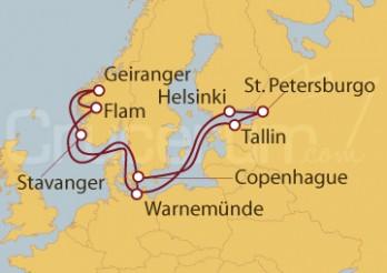 Crucero Capitales Bálticas y Noruega desde Warnemünde