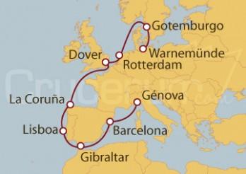 Crucero Alemania, Suecia, Holanda, Reino Unido, España, Portugal, Gibraltar, Italia