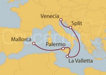 Crucero Palma de Mallorca, Palermo, La Valletta, Split y Venecia