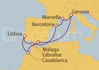Crucero Portugal, Gibraltar, España, Francia, Italia, Marruecos