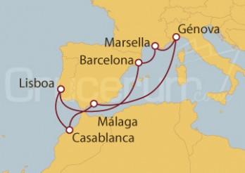 Crucero Francia, Italia, España, Marruecos, Portugal