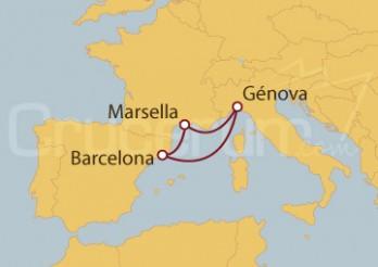 Crucero MiniCrucero 4 días: Marsella (Francia), Génova y Barcelona
