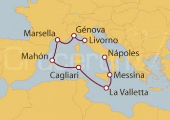 Crucero Livorno (Italia), Marsella (Francia), Mahón y La Valletta