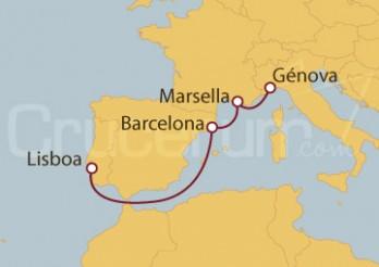 Crucero Minicrucero 5 días: Lisboa (Portugal), Barcelona, Marsella y Génova