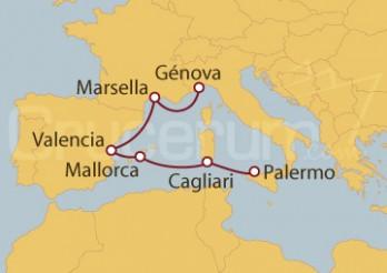 Crucero Palermo (Italia), España y Marsella