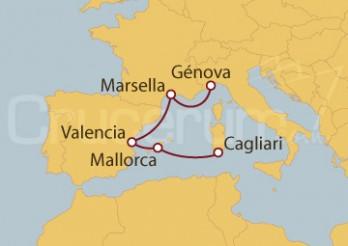 Crucero Minicrucero 5 días: Italia, España y Francia